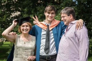 My lovely family on my little brother's graduation day